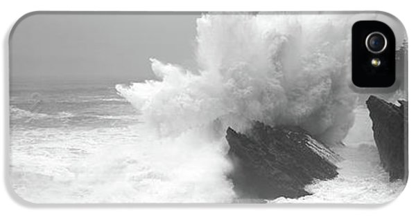 Waves Breaking On The Coast, Shore IPhone 5 Case by Panoramic Images