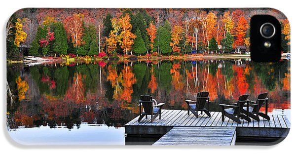 Wooden Dock On Autumn Lake IPhone 5 Case by Elena Elisseeva