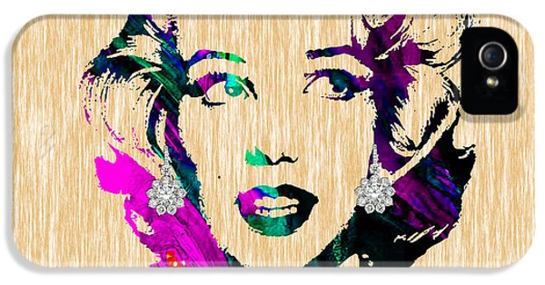 Marilyn Monroe Diamond Earring Collection IPhone 5 Case by Marvin Blaine