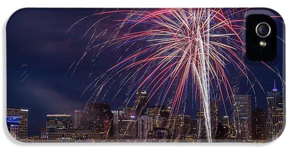 4th Of July Fireworks Over Denver Skyline IPhone 5 Case