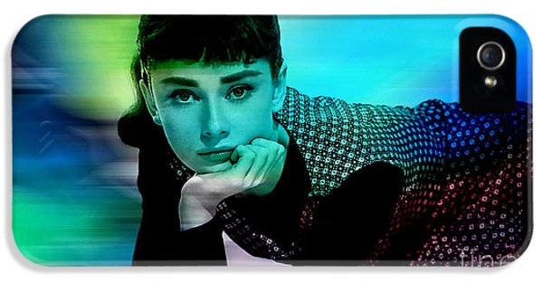 Audrey Hepburn  IPhone 5 Case by Marvin Blaine