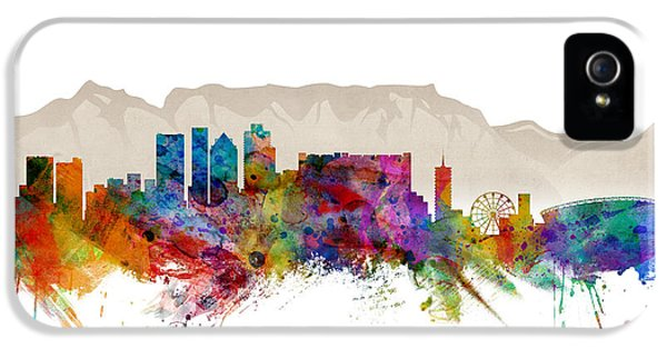 Town iPhone 5 Case - Cape Town South Africa Skyline by Michael Tompsett