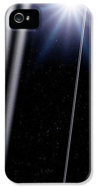 Chariklo Minor Planet And Rings IPhone 5 Case by Detlev Van Ravenswaay