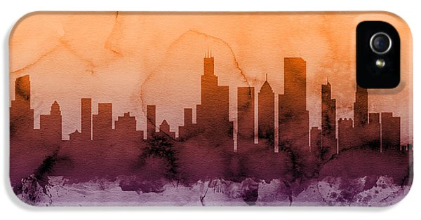 Grant Park iPhone 5 Case - Chicago Illinois Skyline by Michael Tompsett