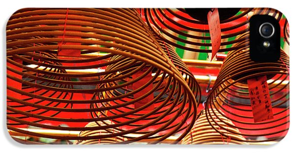 China, Hong Kong, Spiral Incense Sticks IPhone 5 Case by Terry Eggers