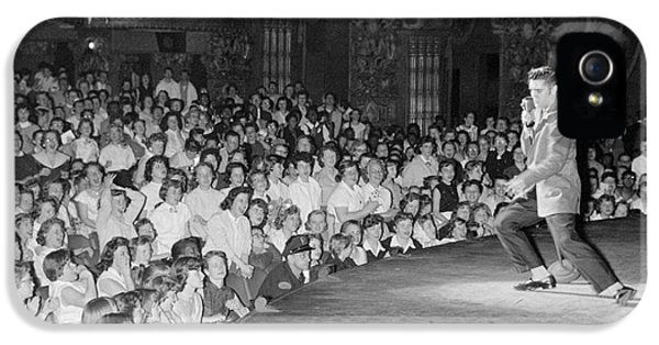 Elvis Presley In Concert At The Fox Theater Detroit 1956 IPhone 5 / 5s Case by The Harrington Collection