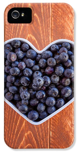 Fresh Picked Organic Blueberries IPhone 5 Case by Teri Virbickis