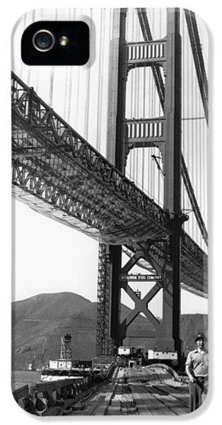 Golden Gate Bridge Work IPhone 5 Case by Underwood Archives