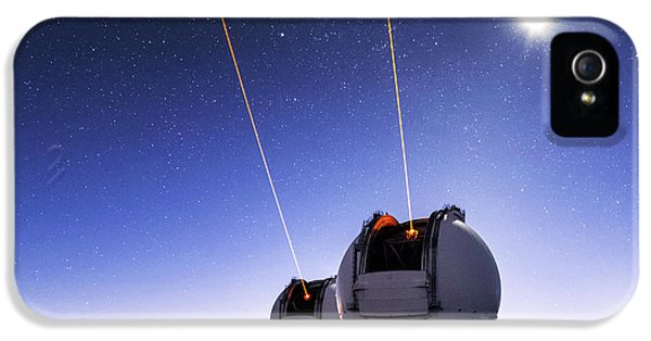 Guide Lasers Over Mauna Kea Observatories IPhone 5 Case by Babak Tafreshi