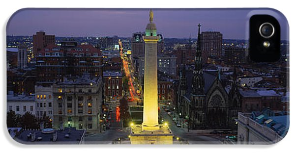 High Angle View Of A Monument IPhone 5 Case by Panoramic Images