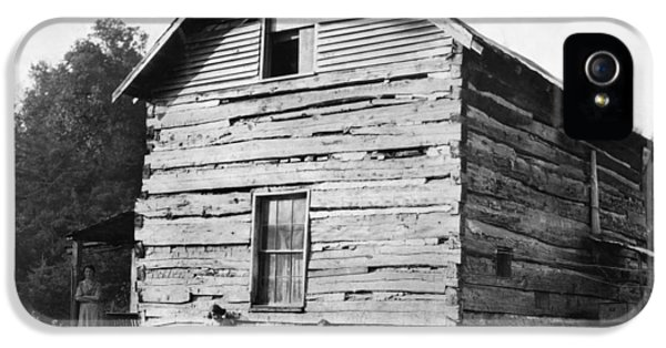 Hine Log Cabin, 1921 IPhone 5 Case by Granger