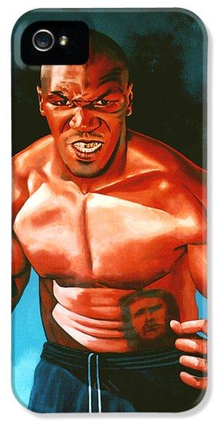 Mike Tyson IPhone 5 Case by Paul Meijering