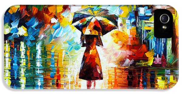 Rain Princess IPhone 5 Case by Leonid Afremov