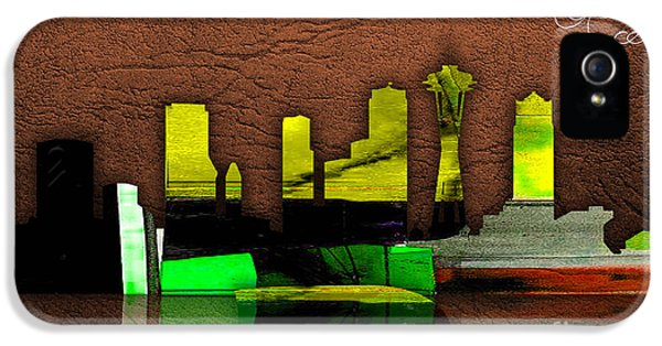 Seattle Skyline Watercolor IPhone 5 Case