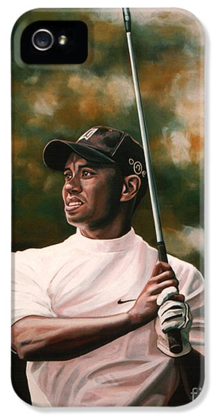 Tiger Woods  IPhone 5 Case by Paul Meijering