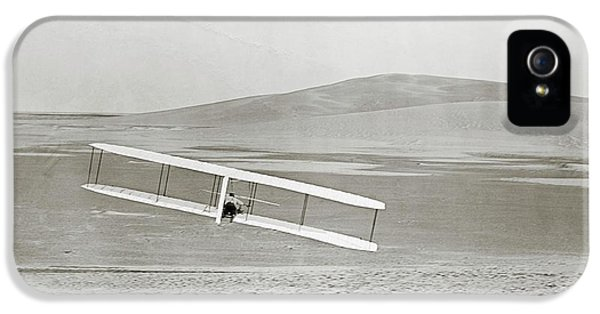 Wright Brothers Kitty Hawk Glider IPhone 5 Case by Library Of Congress