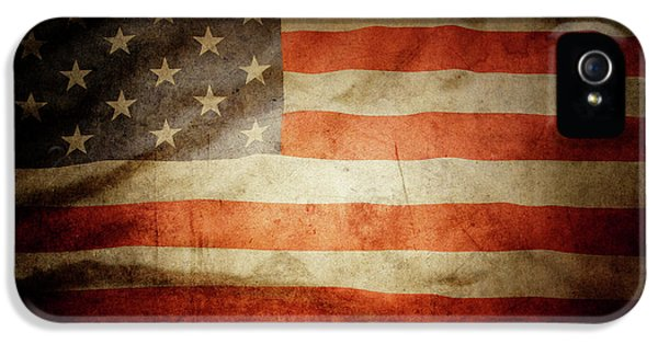 Landmarks iPhone 5 Case - American Flag 48 by Les Cunliffe