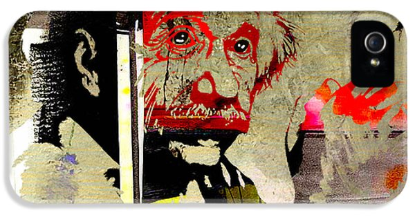 Albert Einstein IPhone 5 Case by Marvin Blaine