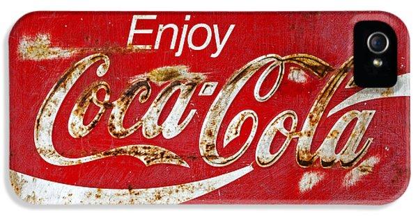Coca Cola Vintage Rusty Sign Black Border IPhone 5 Case