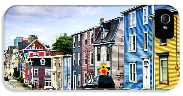 Town iPhone 5 Case - Colorful Houses In St. John's by Elena Elisseeva
