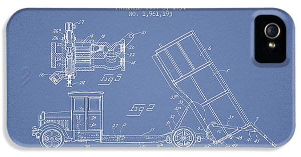 Dump Truck Patent Drawing From 1934 IPhone 5 Case by Aged Pixel