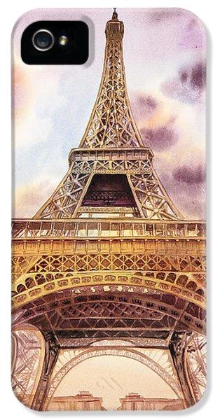 Eiffel Tower Paris France IPhone 5 Case by Irina Sztukowski