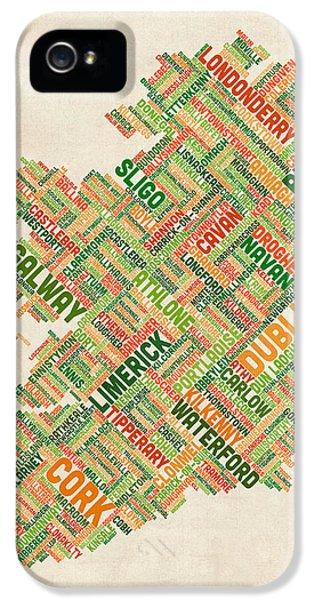 Ireland Eire City Text Map IPhone 5 Case