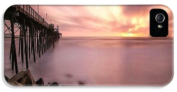 iPhone 5 Case - Long Exposure Sunset At The Oceanside by Larry Marshall