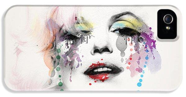 Marilyn Monroe IPhone 5 Case by Mark Ashkenazi