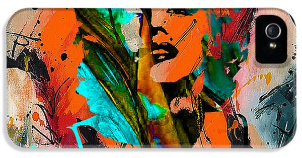 Marilyn Monroe Painting IPhone 5 Case by Marvin Blaine