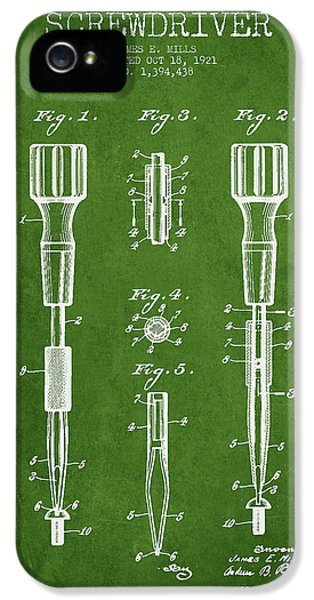 Screwdriver Patent Drawing From 1921 IPhone 5 Case
