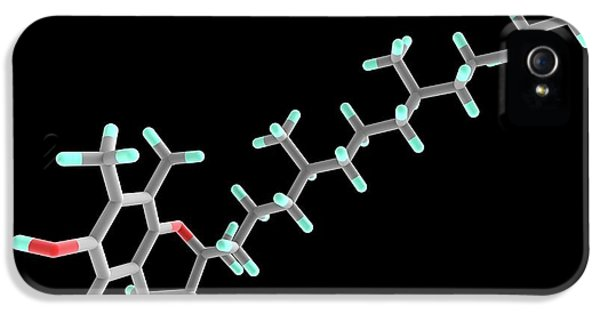 Vitamin E Molecule IPhone 5 Case by Alfred Pasieka