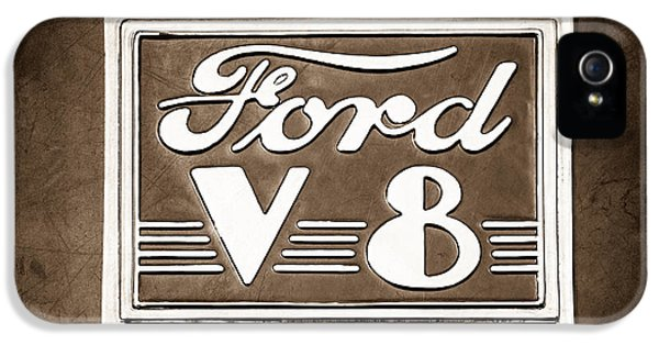 1940 Ford Deluxe Coupe Emblem IPhone 5 Case