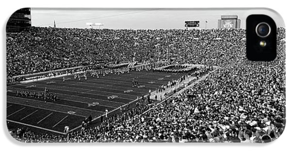 High Angle View Of A Football Stadium IPhone 5 Case by Panoramic Images