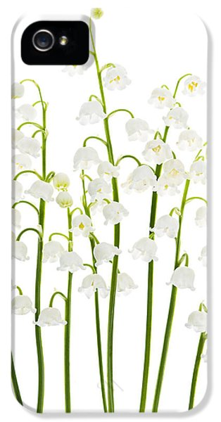 Lily-of-the-valley Flowers  IPhone 5 Case by Elena Elisseeva