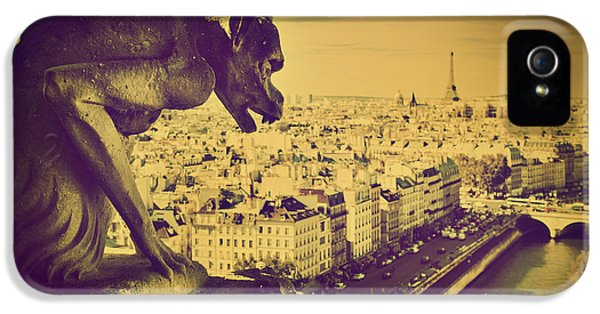 Paris Panorama France  IPhone 5 Case by Michal Bednarek