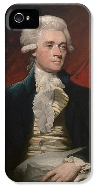 Thomas Jefferson iPhone 5 Case - Thomas Jefferson - By Mather Brown by War Is Hell Store