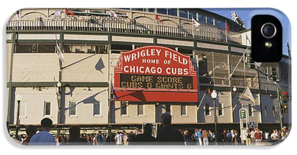 Usa, Illinois, Chicago, Cubs, Baseball IPhone 5 Case by Panoramic Images