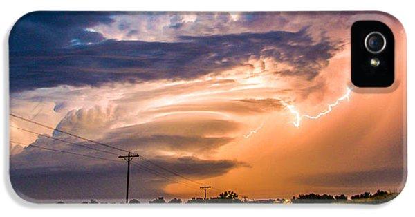 Nebraskasc iPhone 5 Case - Wicked Good Nebraska Supercell by NebraskaSC