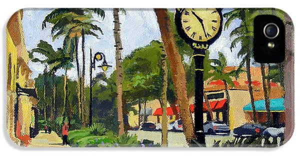 Clock iPhone 5 Case - 5th Avenue Naples Florida by Christine Hopkins