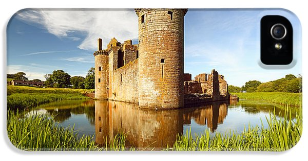 Castle iPhone 5 Case - Caerlaverock Castle by Grant Glendinning
