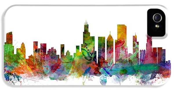 City Scenes iPhone 5 Case - Chicago Illinois Skyline by Michael Tompsett