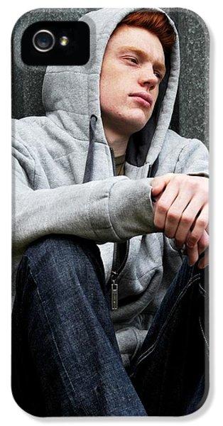 Depressed Teenager IPhone 5 Case by Cordelia Molloy