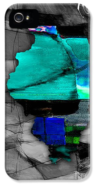 Illinois Map Watercolor IPhone 5 / 5s Case by Marvin Blaine