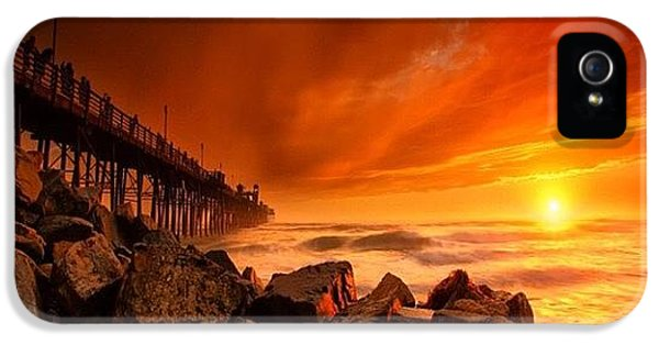 iPhone 5 Case - Long Exposure Sunset At A North San by Larry Marshall
