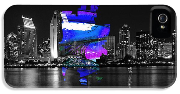 San Diego California Map And Skyline IPhone 5 Case by Marvin Blaine