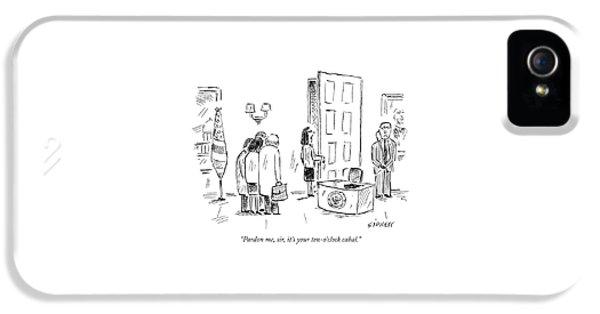 Pardon Me, Sir, It's Your Ten-o'clock Cabal IPhone 5 Case by David Sipress