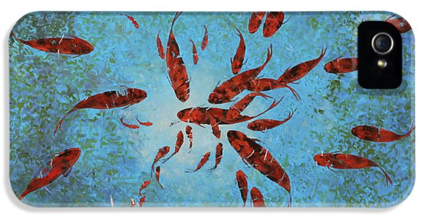 Koi iPhone 5 Case - 63 Pesci Rossi by Guido Borelli