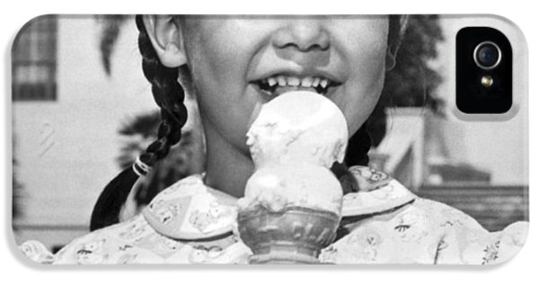 Girl With Ice Cream Cone IPhone 5 Case by Underwood Archives