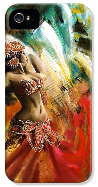 Abstract Belly Dancer 19 IPhone 5 Case by Corporate Art Task Force